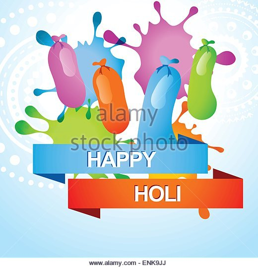 Indian Festival Holi Colour Balloon Stock Photos & Indian Festival.