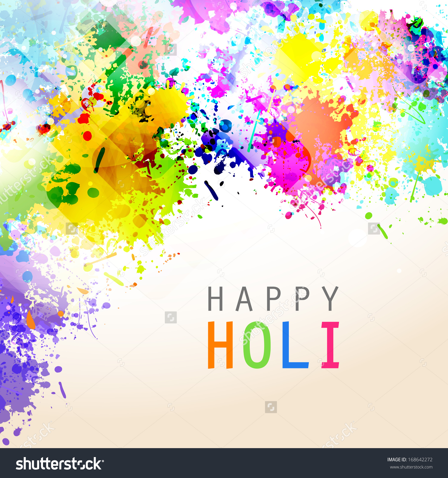 Indian Festival Happy Holi Celebrations Colors Stock Vector.