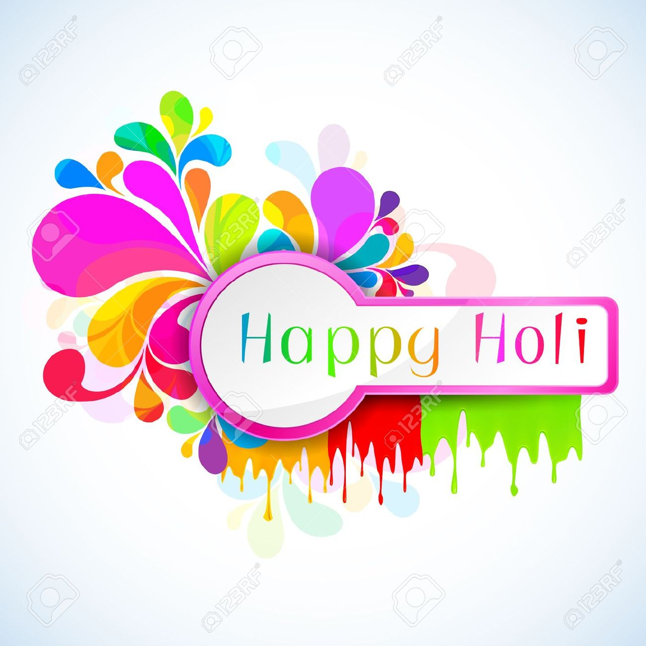Happy holi hd clipart.