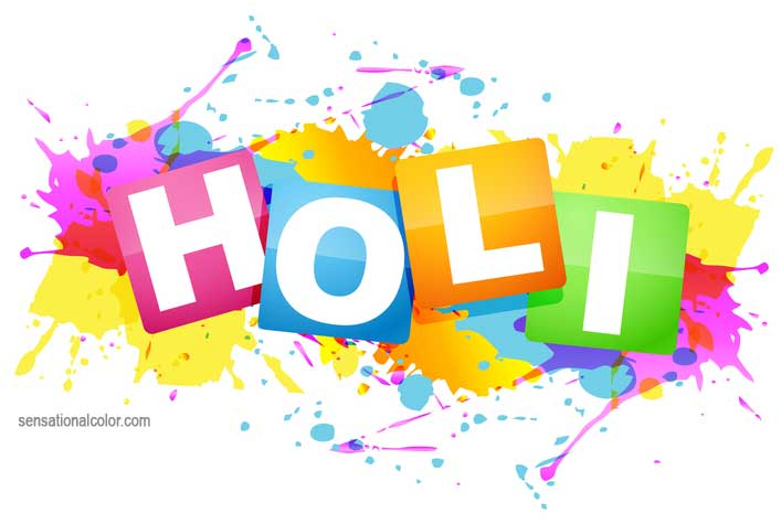 Holi Festival Of Colors In India.