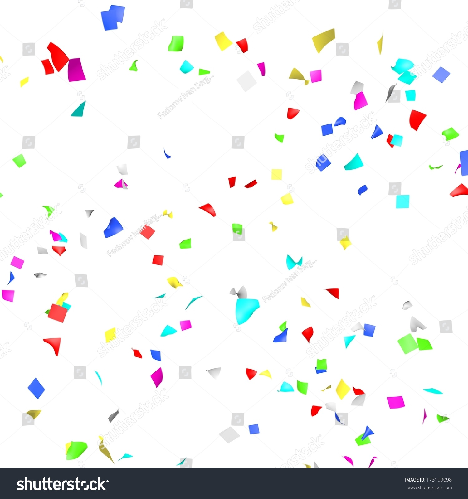 Colored paper in flight isolated on a… Stock Photo 173199098.