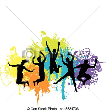 Color Run Clipart.