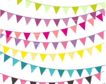 Items similar to Party Bunting Clip art.