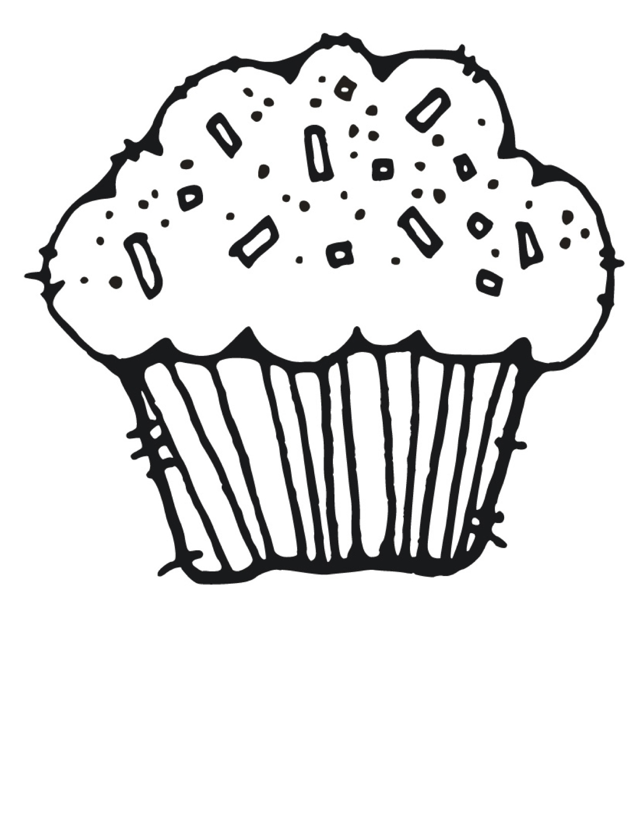 Cupcake Clipart Black And White & Cupcake Black And White Clip Art.