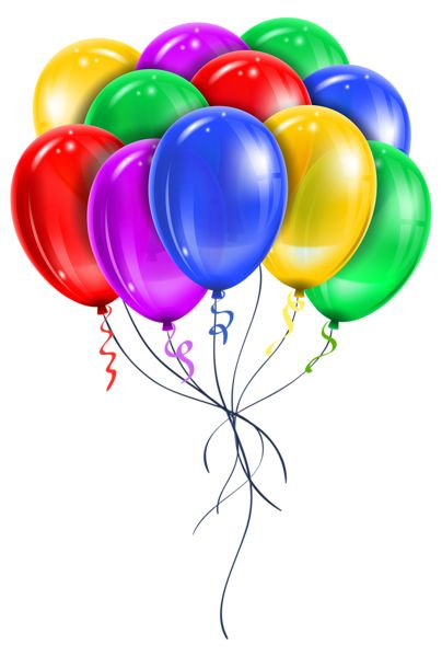 Transparent Multi Color Balloons PNG Picture Clipart.