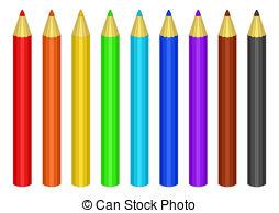 Coloured pencil clipart.