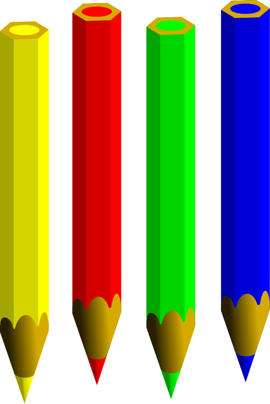 One colored pencil clipart.