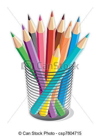 Coloured Pencils Clipart.