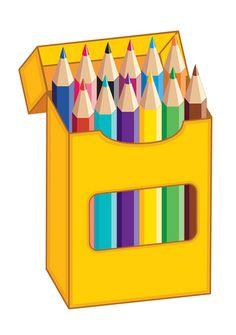 Colour pencils clipart.