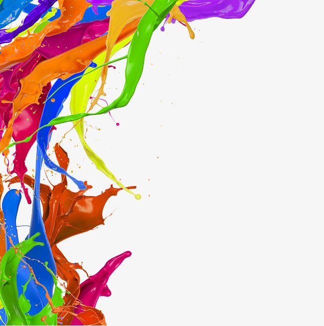 Free Splash Of Color Pigments Pull Png Image, Splash Clipart, Color.