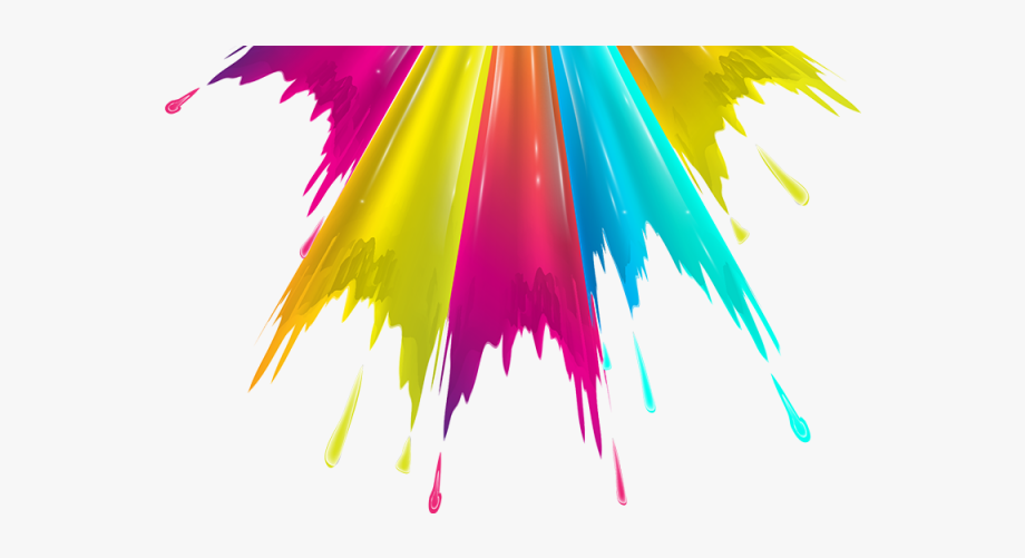 Colorful Pull Down Color Splash Png And.
