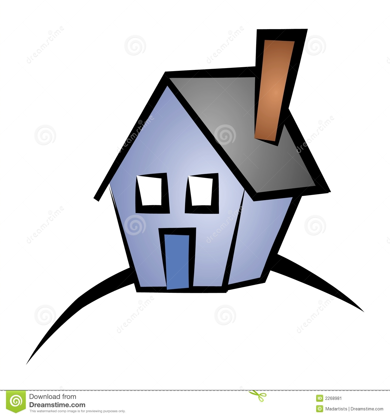 Real Estate Clip Art House 4 Stock Image.