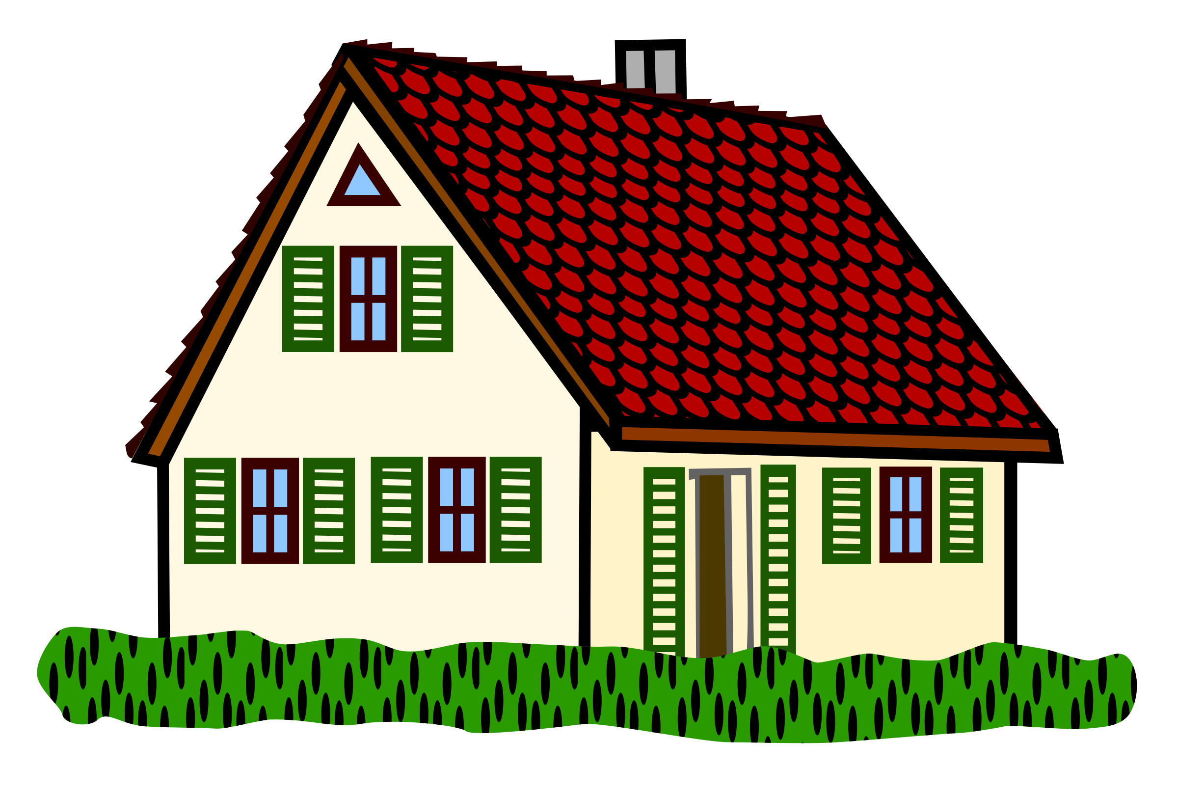 Coloured houses clipart - Clipground
