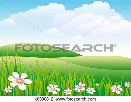 Clip Art of Meadow k8390812.