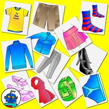 Clip Art for Clothing and Accessories.