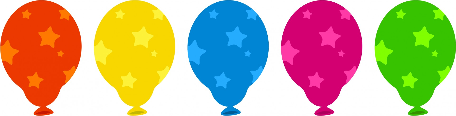 Colourful Balloons Clip Art Free Stock Photo.