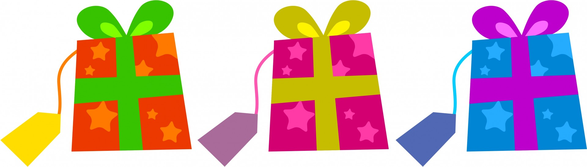 Colourful Gifts Clip Art Free Stock Photo.