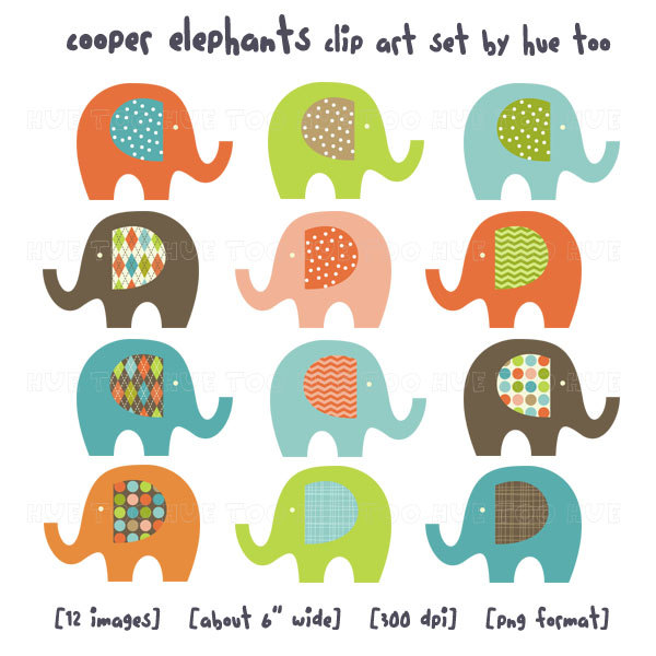 Elephant clipart wallpaper.