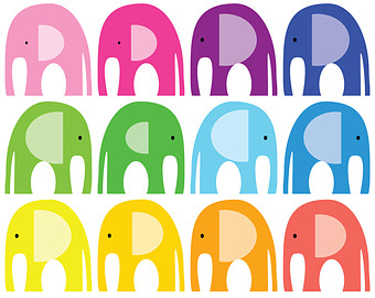 FREE COMMERICAL use 40% Off Elephant Clip Art. by SupernowDesign.