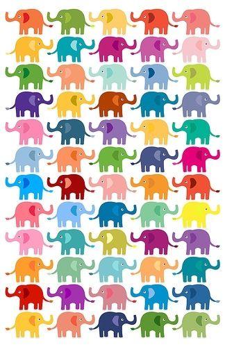 colorful elephant.