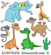 Colourful elephant Clipart Illustrations. 36 colourful elephant.
