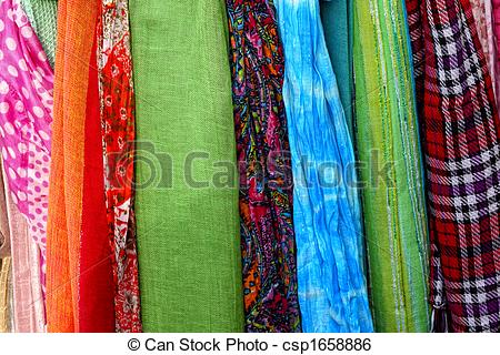 Stock Image of Colourful fabric.