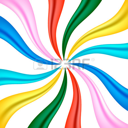 Colourful Fabric Ribbon Background Concept Royalty Free Cliparts.
