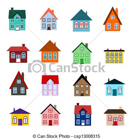 Vector Clip Art of Cartoon house icon.