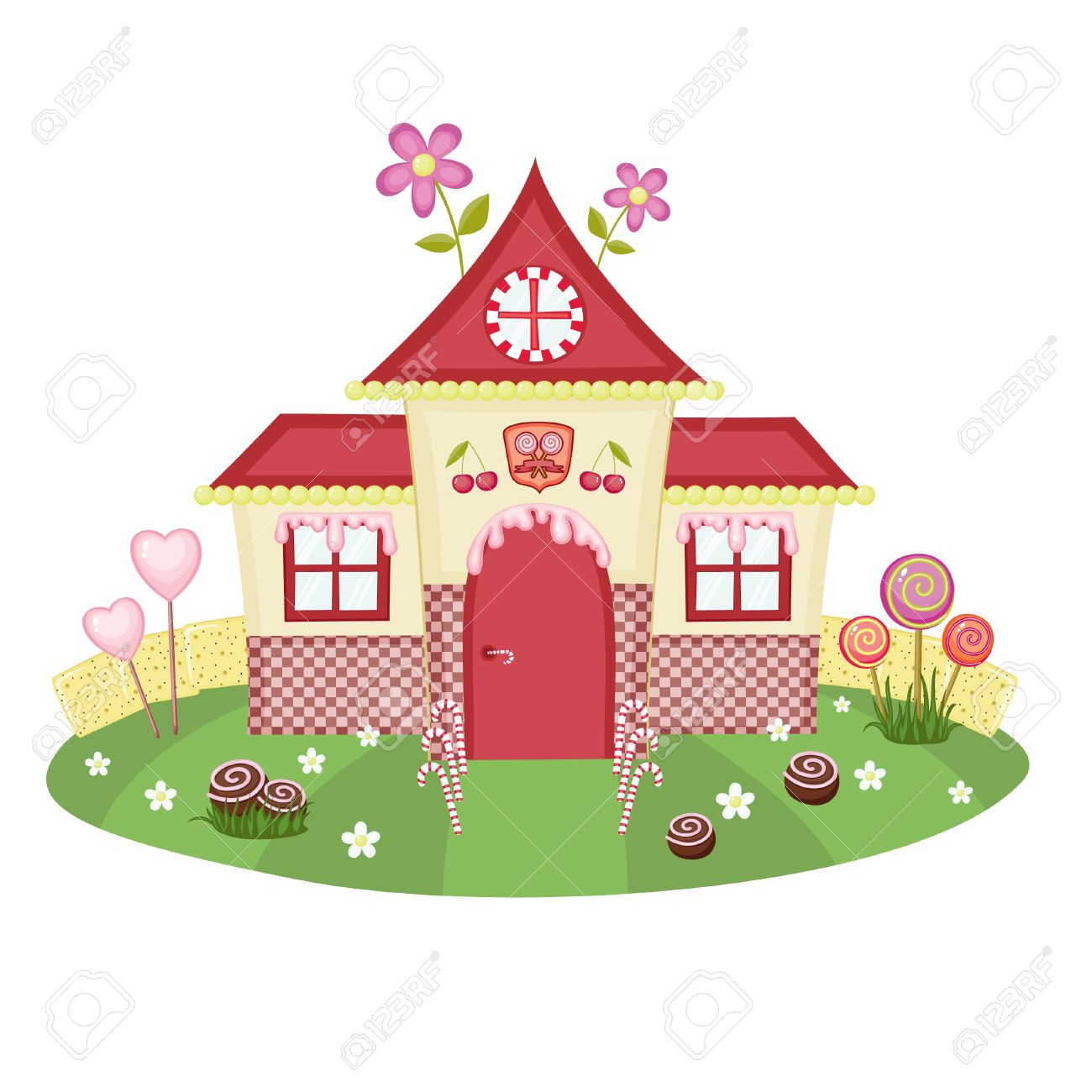 Colourful houses clipart #11