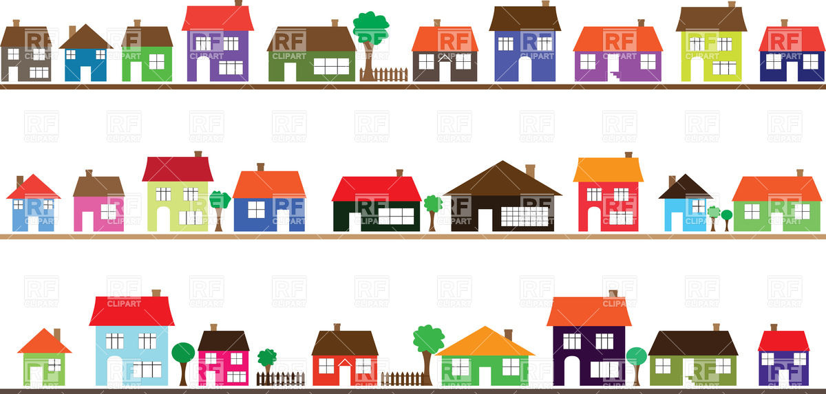 Street Of Houses Clipart.