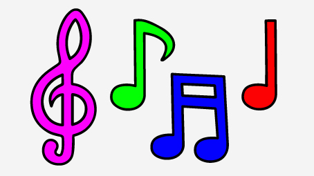 Coloured music note clipart 1 » Clipart Station.