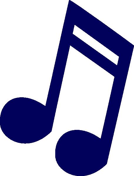 Dark Blue Music Note Clip Art at Clker.com.