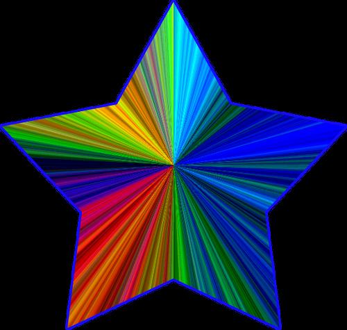 Rainbow Stars Clipart.