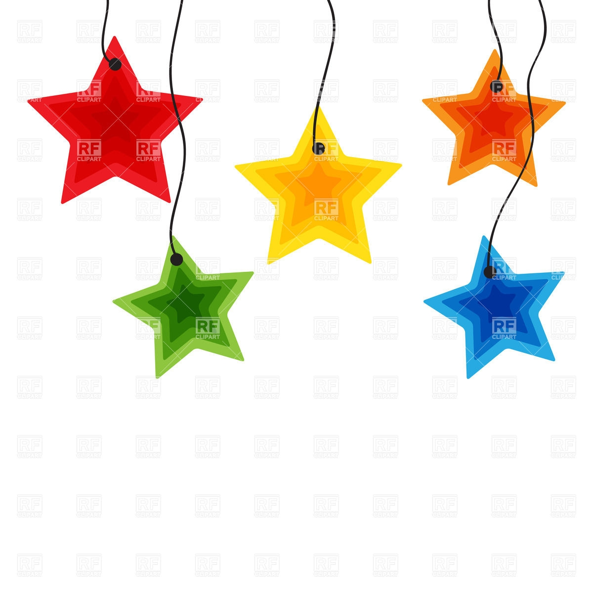 Colourful Stars Clipart.