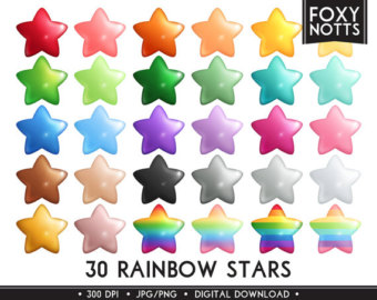 colourful stars clipart - Clipground