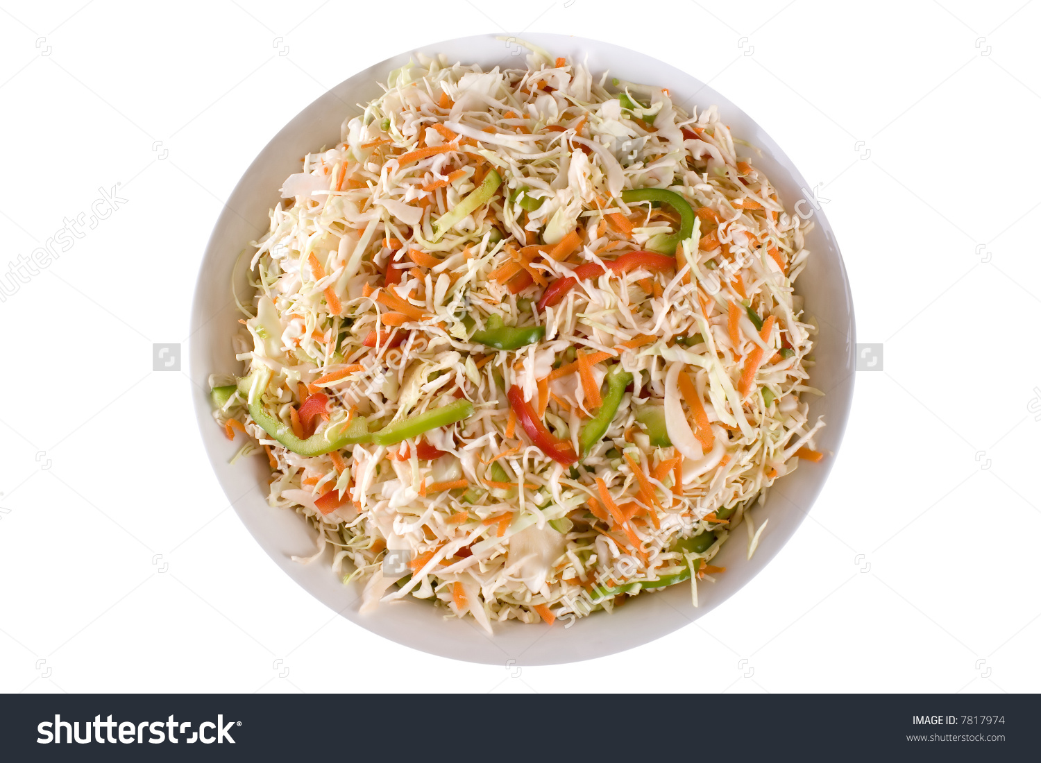 Traditional Healthy Coleslaw Salad. Cabbage, Celery, Bell Peppers.