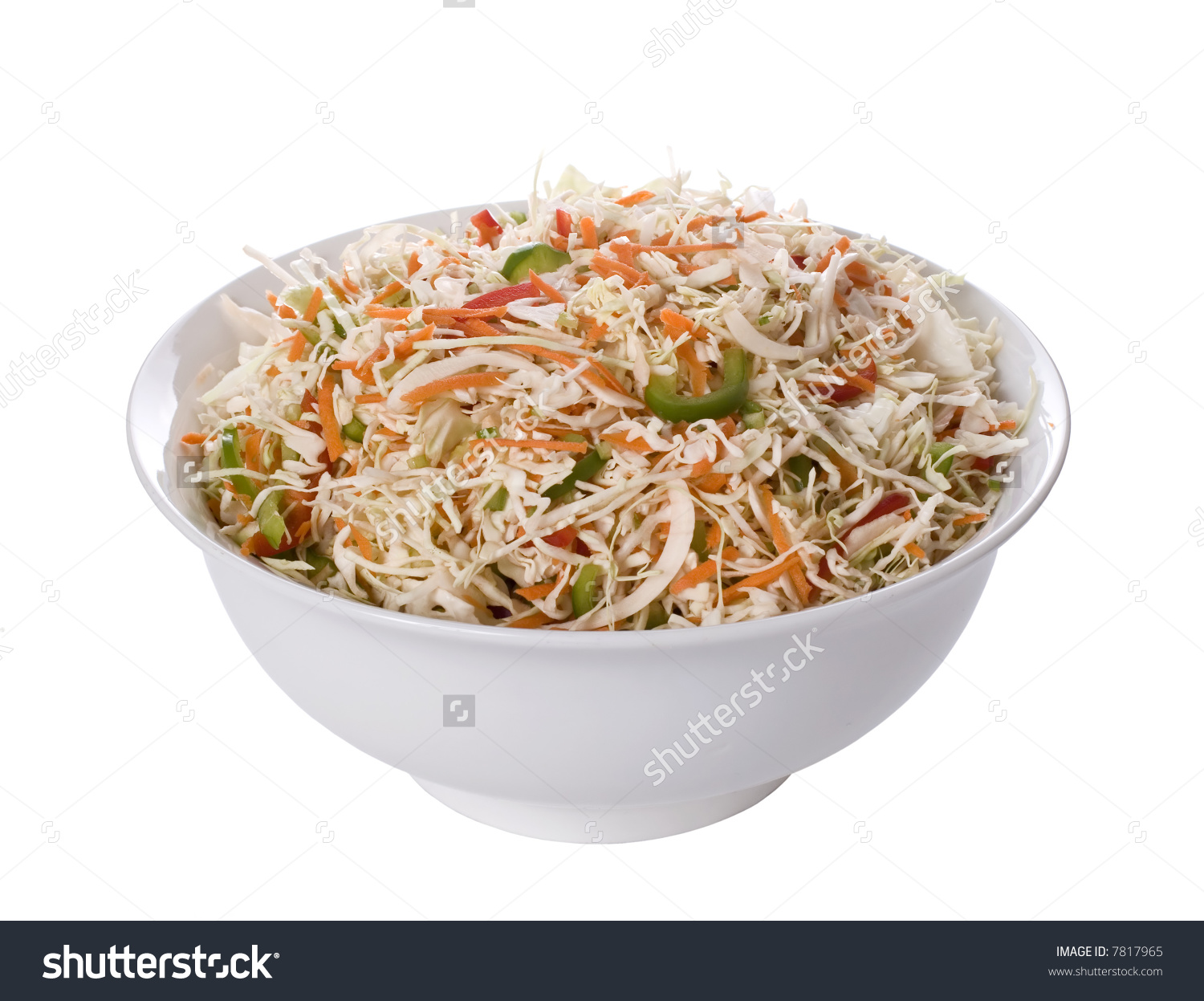 Coleslaw Salad Healthy Slaw Vegetables Crisp Stock Photo 7817965.