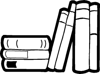 Library Books Clipart.