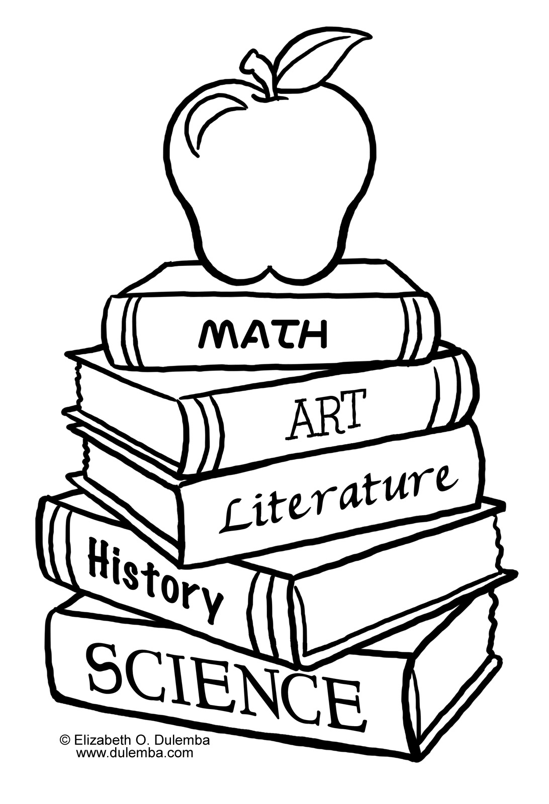 Free coloring book clip art for kids.