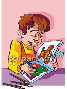 Coloring book clipart.