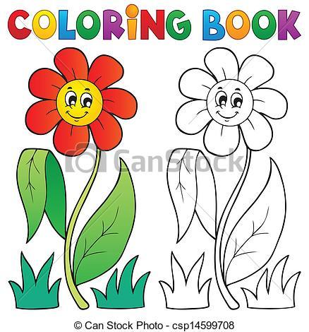 Coloring book clip art.