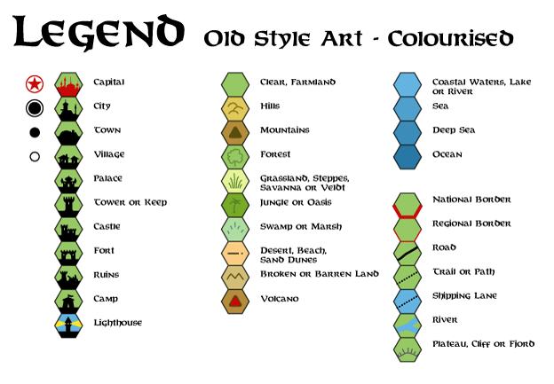 Map legend symbols clip art.