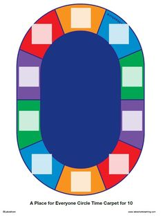 Seating Chart for Lakeshore's Colors of Nature® Classroom Carpet.