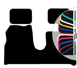 Car Mats Citroen C8 3 Pce Black Fully Tailored Floor Rubber Carpet.