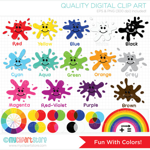 Clipart Fun With Colors Back to School / Educational /.