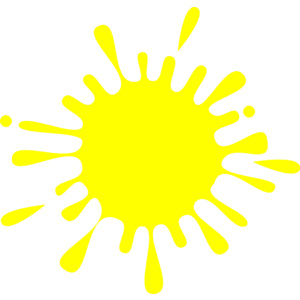 Clipart in yellow colour.