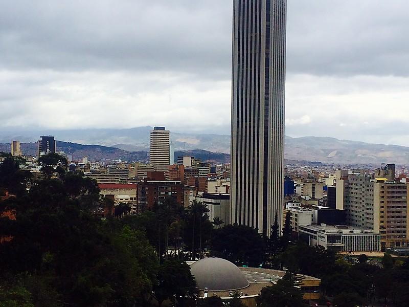 Colpatria Tower in Bogota, Colombia.