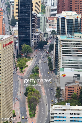Colombia Bogota Centro Internacional From Colpatria Tower Or Torre.