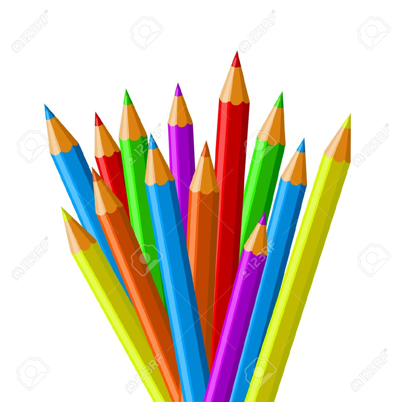 Colres clipart - ClipgroundCrayon Markers Clipart