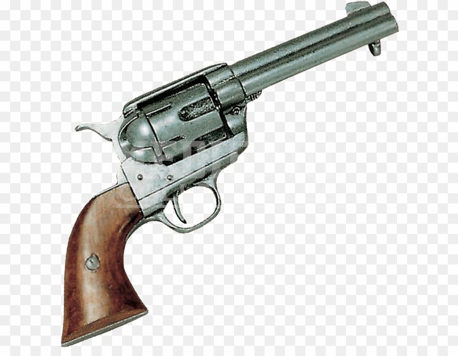 Colt 45 Peacemaker PNG Revolver Firearm Clipart download.